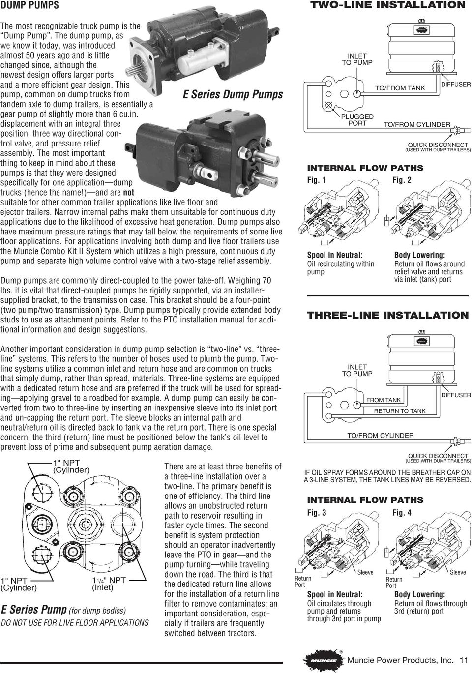 Understanding Truck Mounted Hydraulic Systems Sixth Edition Written 5 Pole Relay Wiring Diagram Muncie Pto System This Pump Common On Dump Trucks From E Series Pumps Tandem Axle To