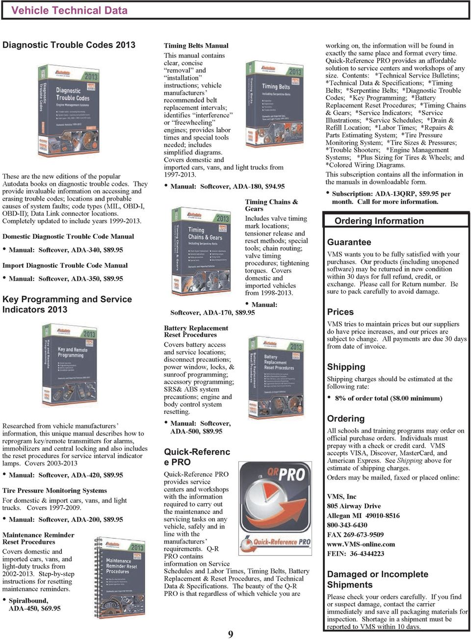 Completely updated to include years 1999-2013. Domestic Diagnostic Trouble  Code Manual Manual: