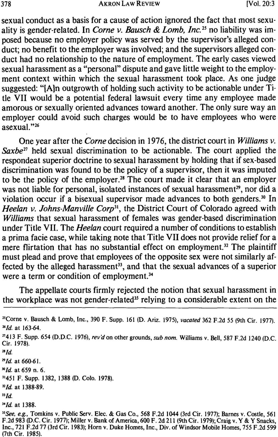 "title vii legal protection against sexual harassment pdfto the nature of employment the early cases viewed sexual harassment as a ""personal"