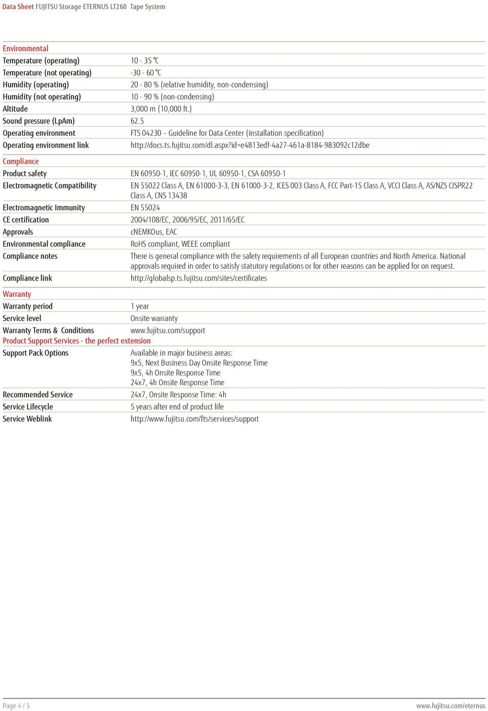 ) FTS 04230 Guideline for Data Center (installation specification) http://docs.ts.fujitsu.com/dl.aspx?