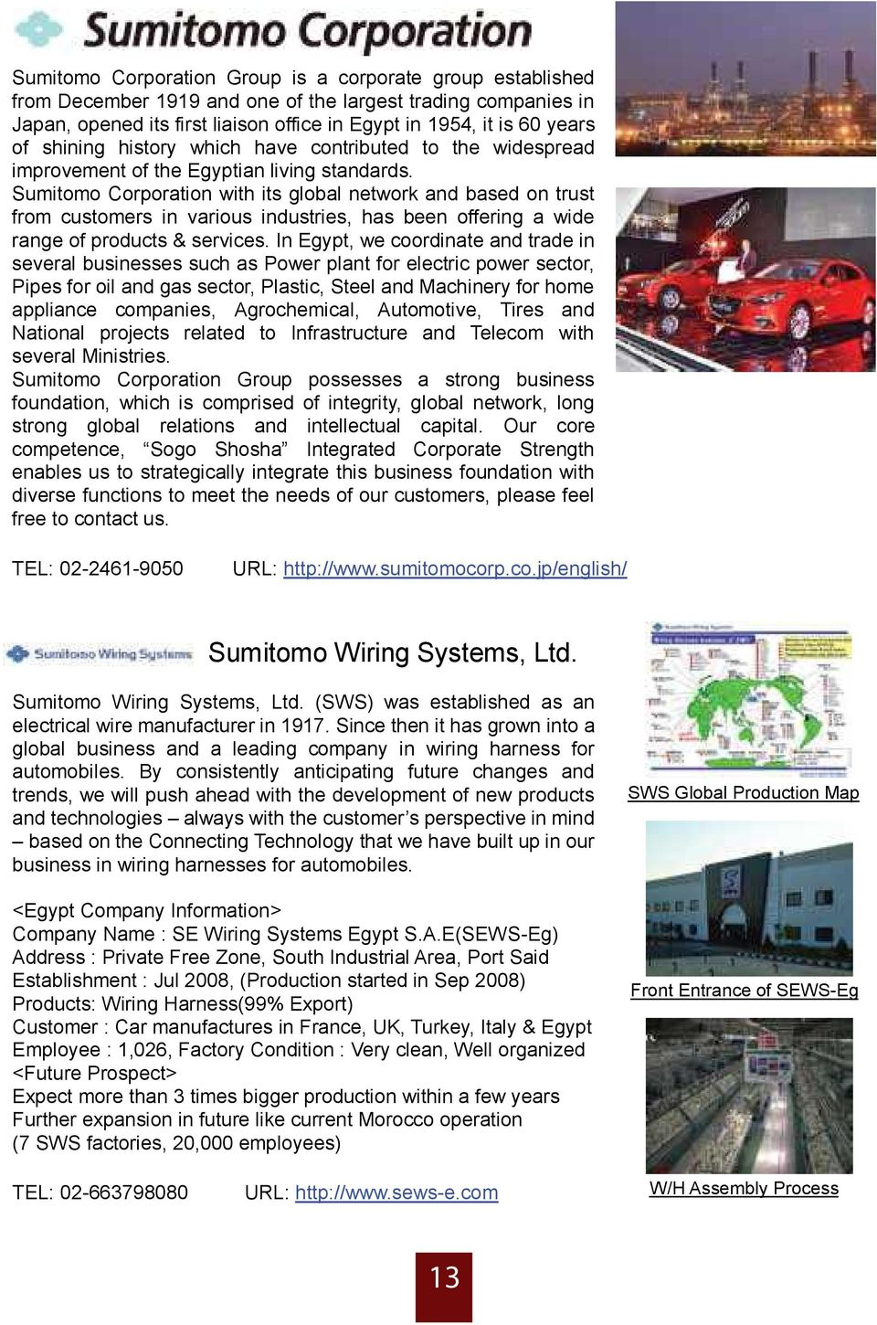 Embassy Of Japan In Egypt Jetro Cairo Office Pdf Sumitomo Wiring System Corporation With Its Global Network And Based On Trust From Customers Various Industries