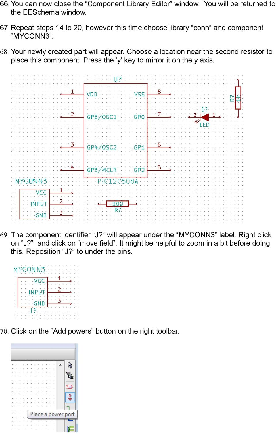 Kicad Step By Tutorial Pdf Simpledccircuit Choose A Location Near The Second Resistor To Place This Component Press Y