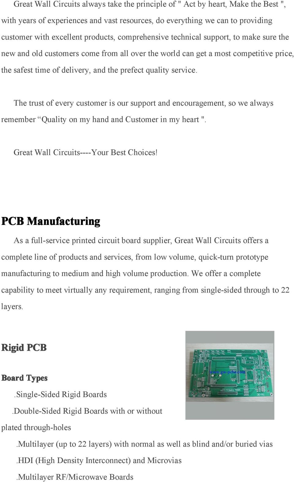 Company Introduction Quality Policy High Efficiency Gps Circuit Pcb Boardfr4 Tg Pcbshenzhen Suppier Buy Promise Keeping And Sustainable Development Pdf