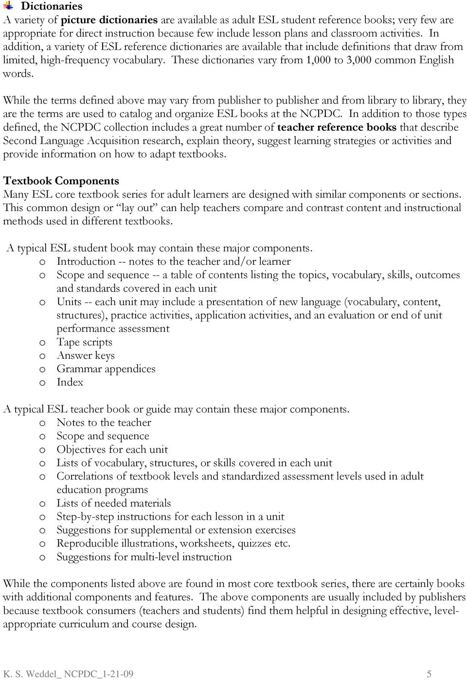 Learner second adult planning edition instruction