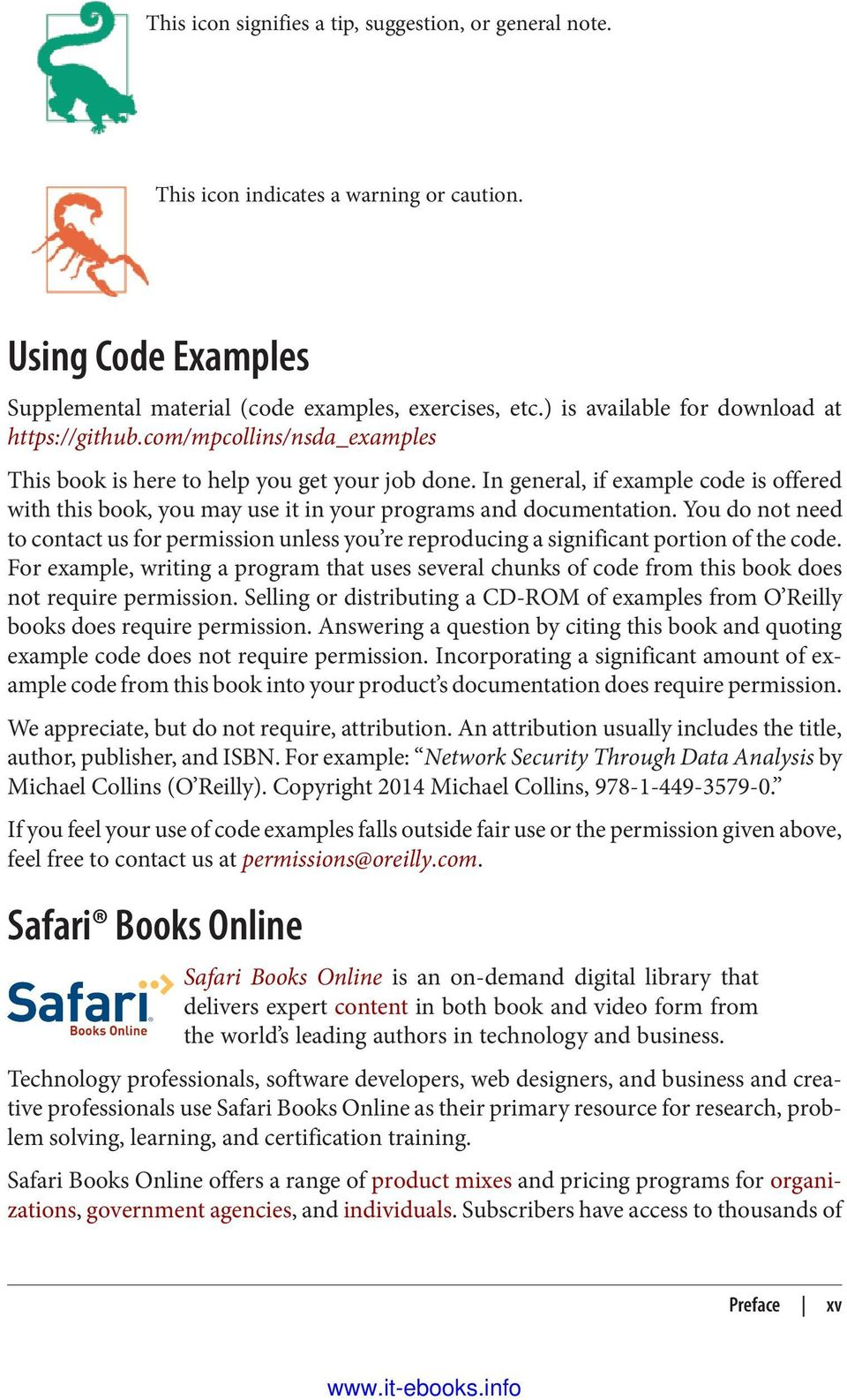 Network security through data analysis pdf in general if example code is offered with this book you may use it fandeluxe Image collections