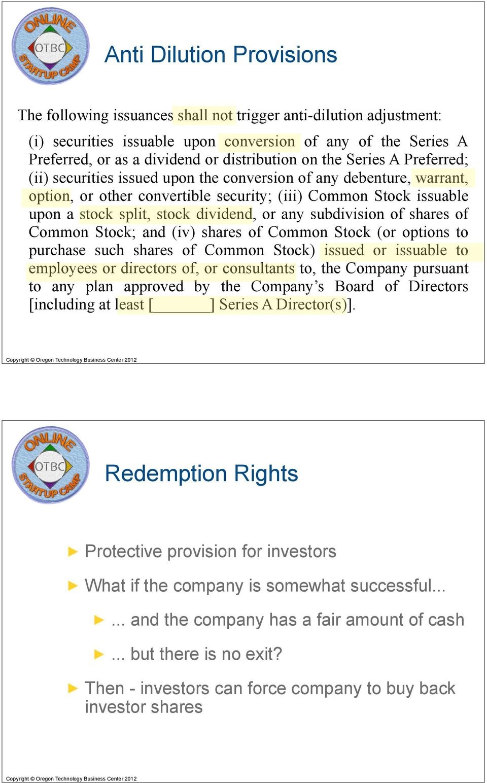 An Overview Of The Term Sheet Part 1 Pdf