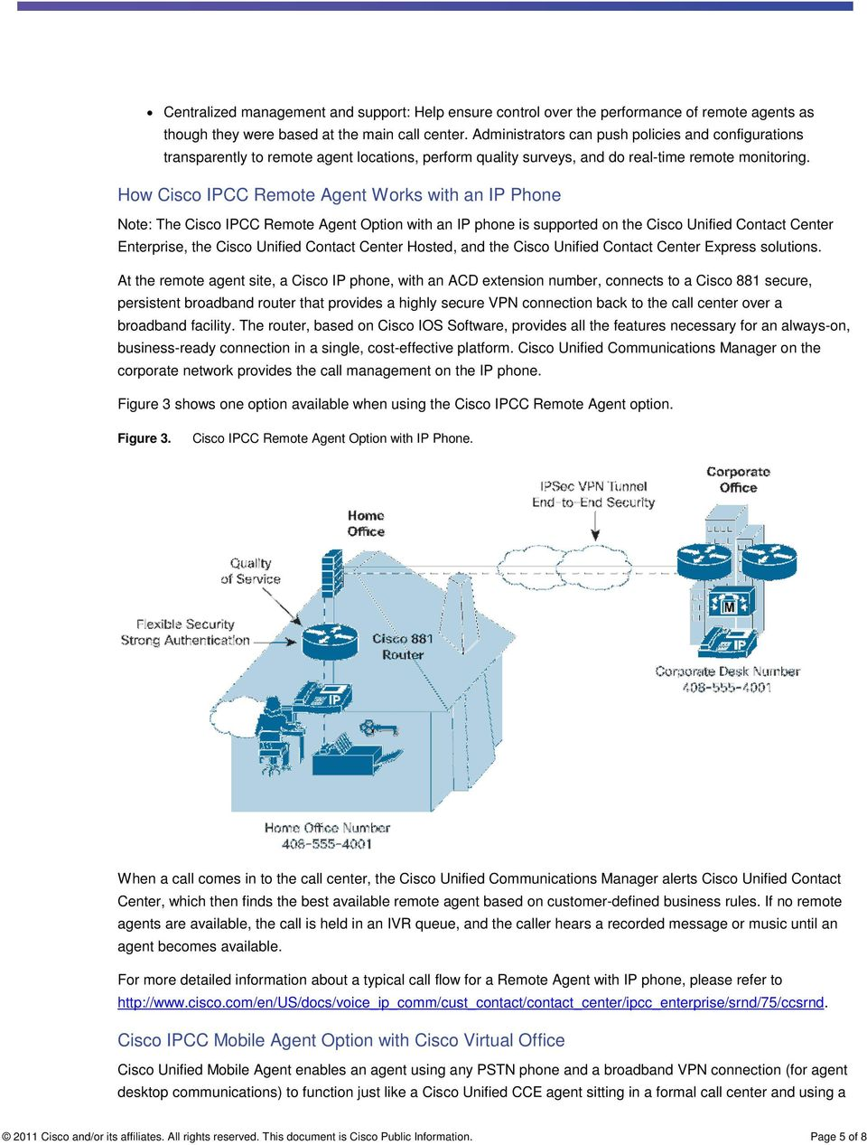 Cisco Virtual Office Unified Contact Center Architecture - PDF