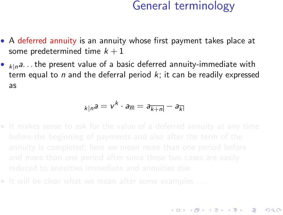 Deferred annuity formula   how to calculate pv of deferred annuity?