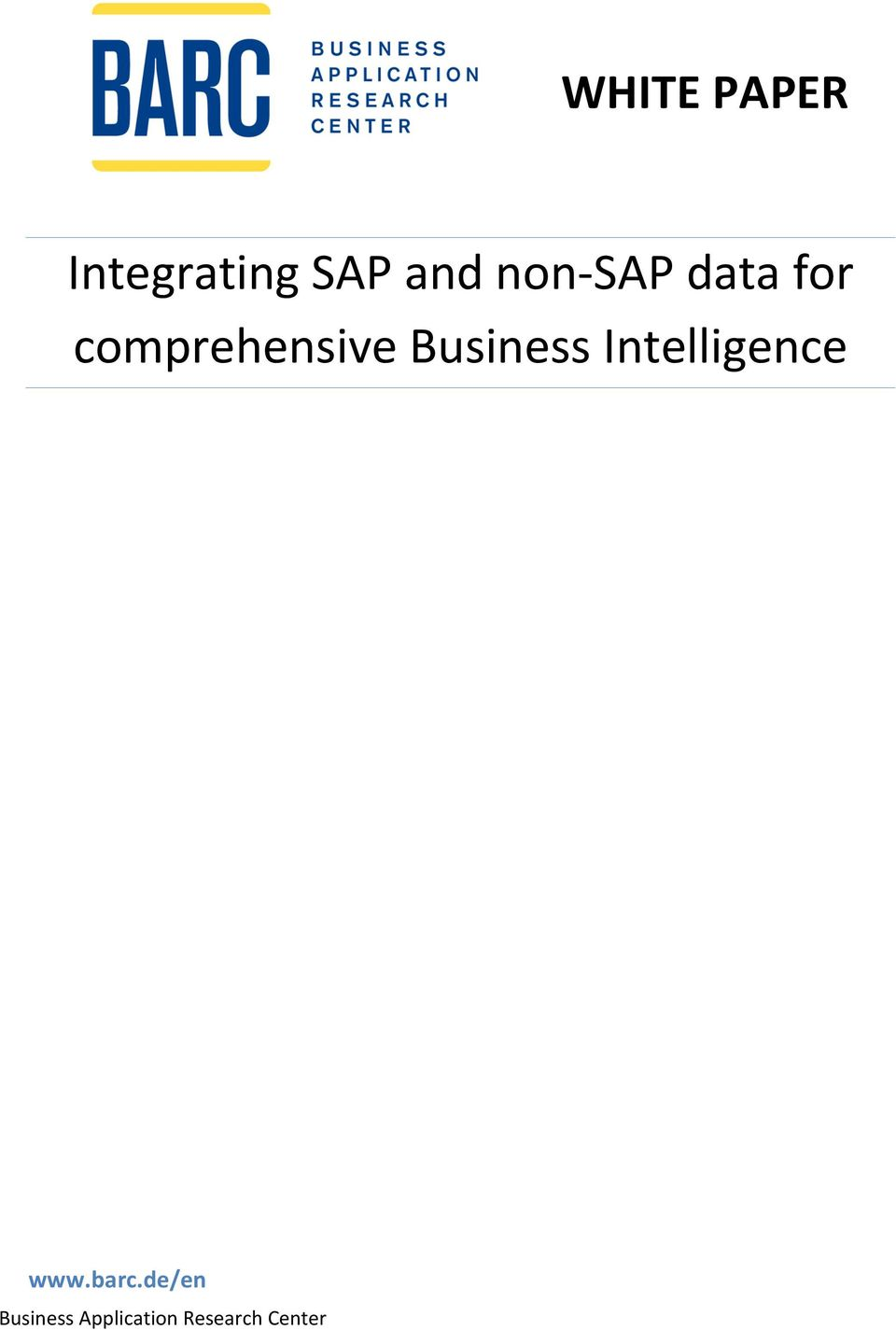 Business Intelligence www.barc.