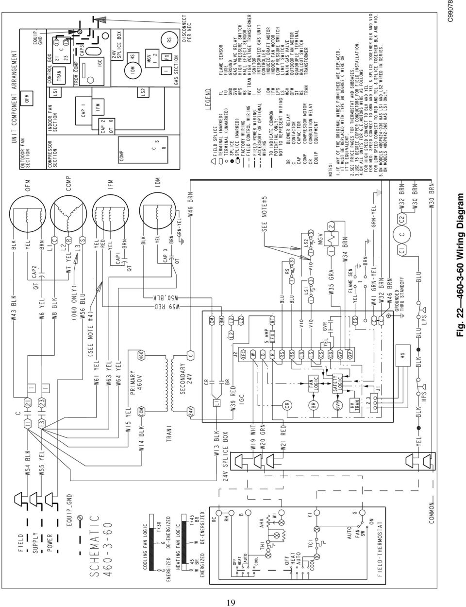 Installation Start Up And Operating Instructions 48gp 48gpn Sizes Wiring Diagram Air Pressor Hvac Superheat 19 Fig C