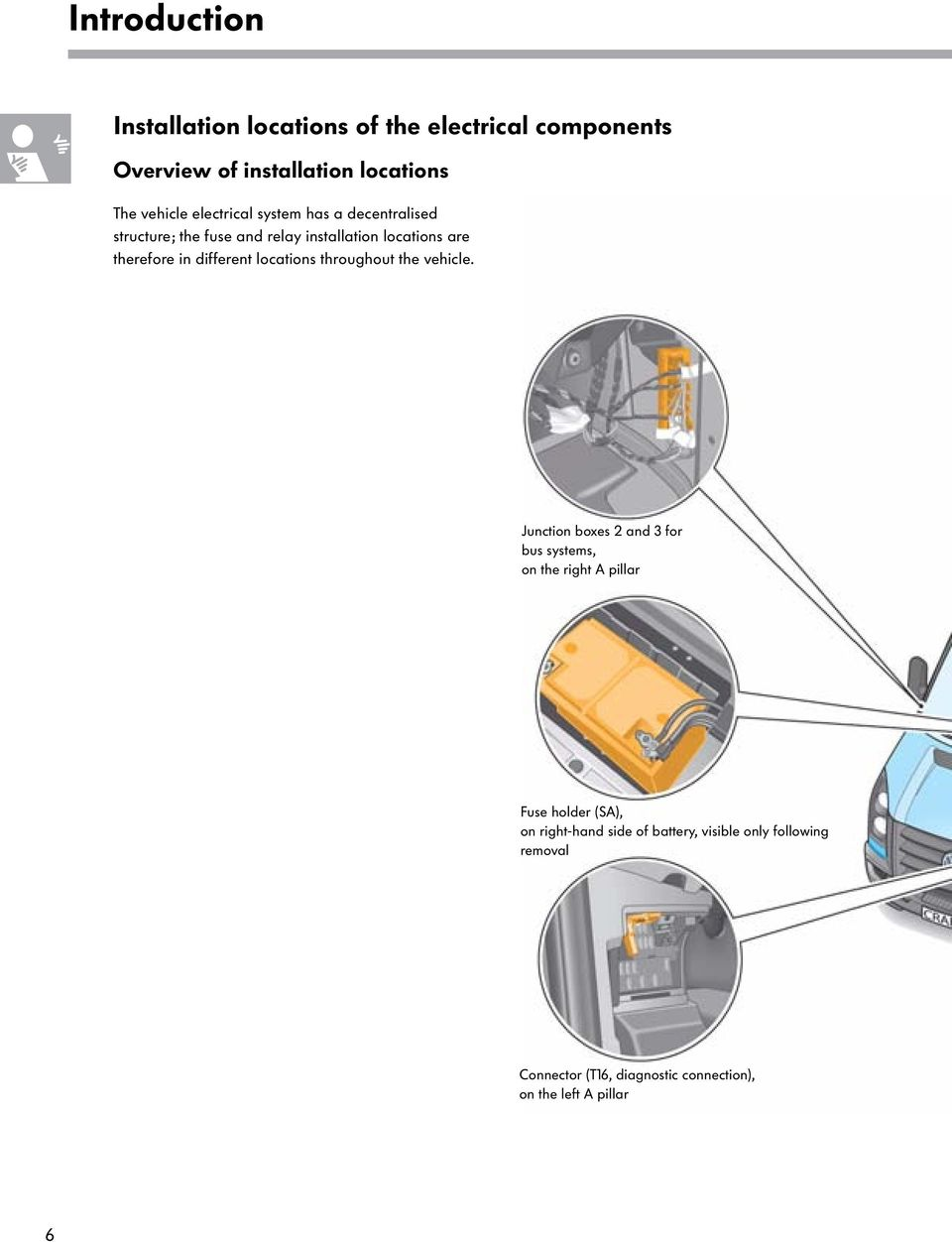The Crafter Electrical System Pdf Rover T16 Wiring Diagram Different Locations Throughout Vehicle