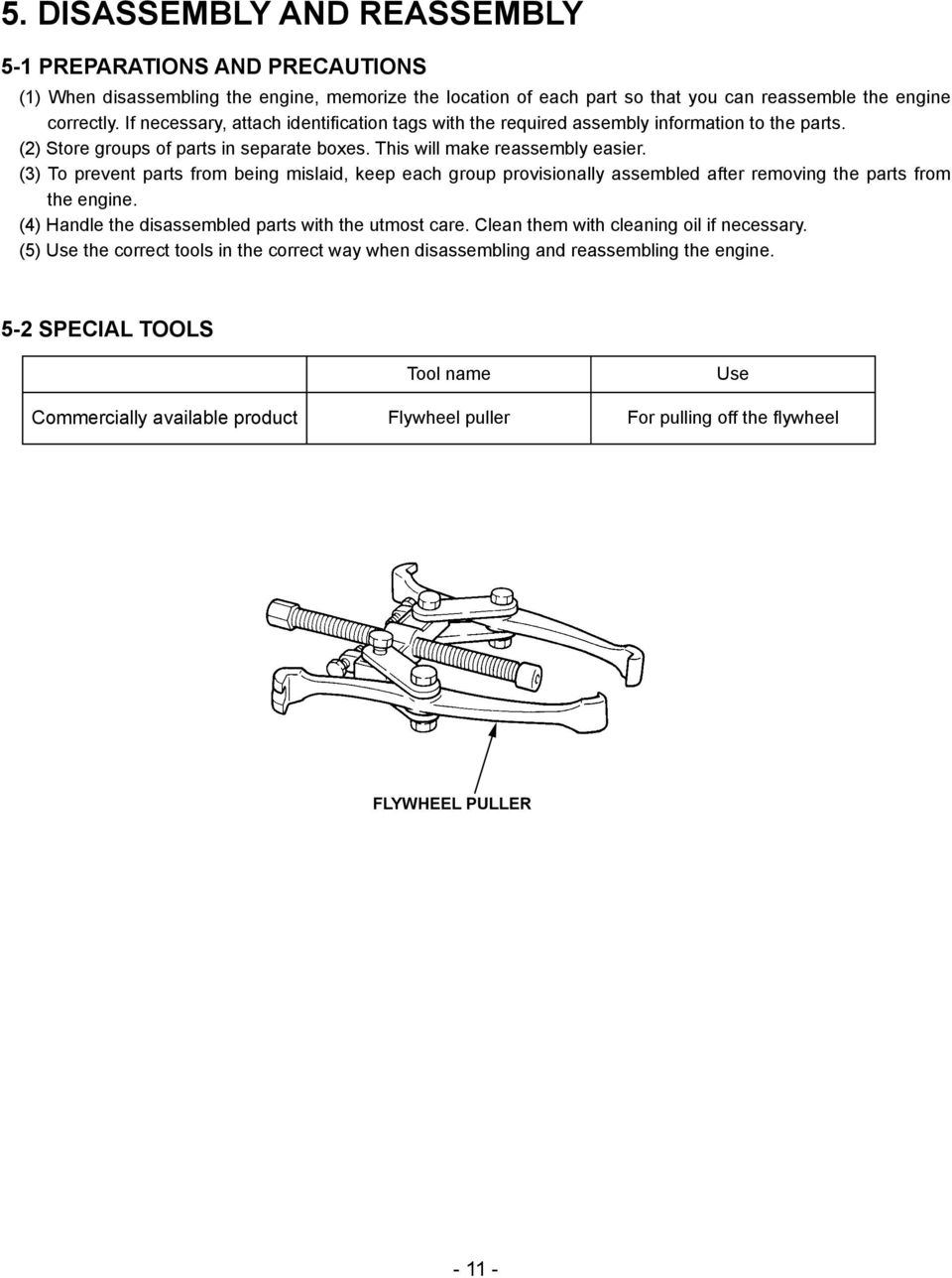 Service Manual Ex30 Engines Model Pub Es2268 Rev 10 06 Pdf 5 2 Engine Diagram 3 To Prevent Parts From Being Mislaid Keep Each Group Provisionally Assembled After