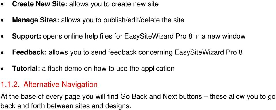 EasySiteWizard Pro 8 Tutorial: a flash demo on how to use the application 1.1.2.