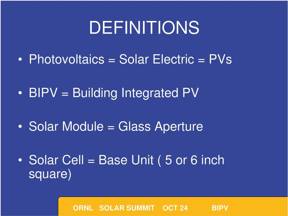 Integrated PV Solar Module = Glass