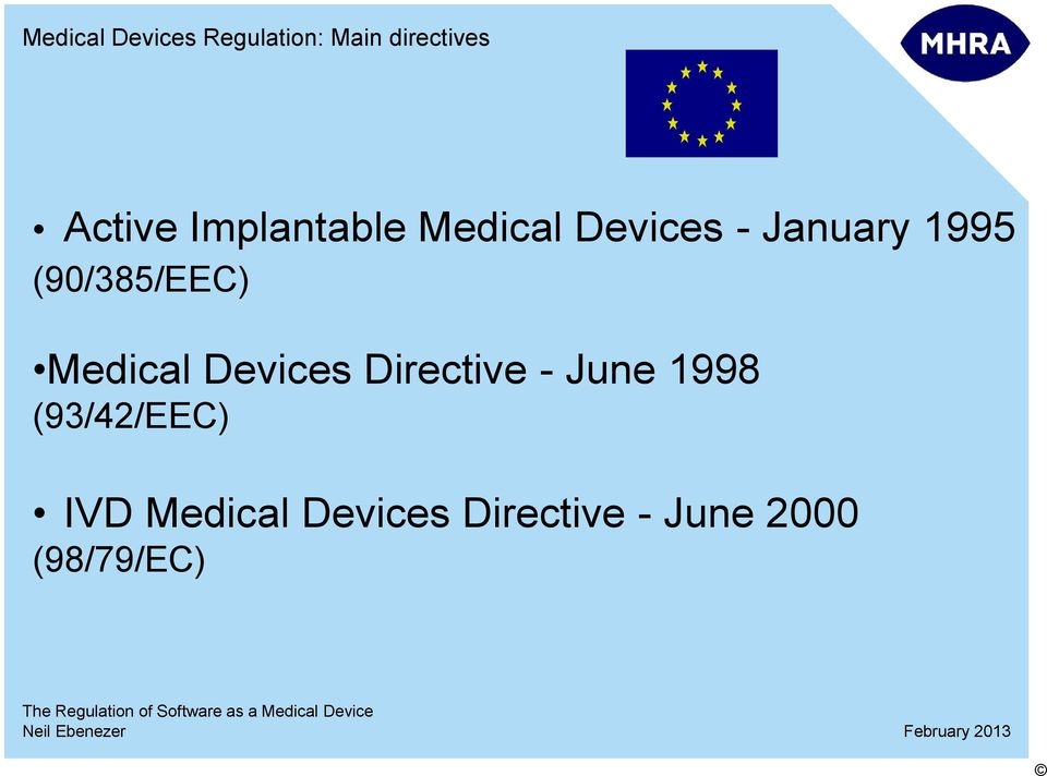 (90/385/EEC) Medical Devices Directive - June 1998