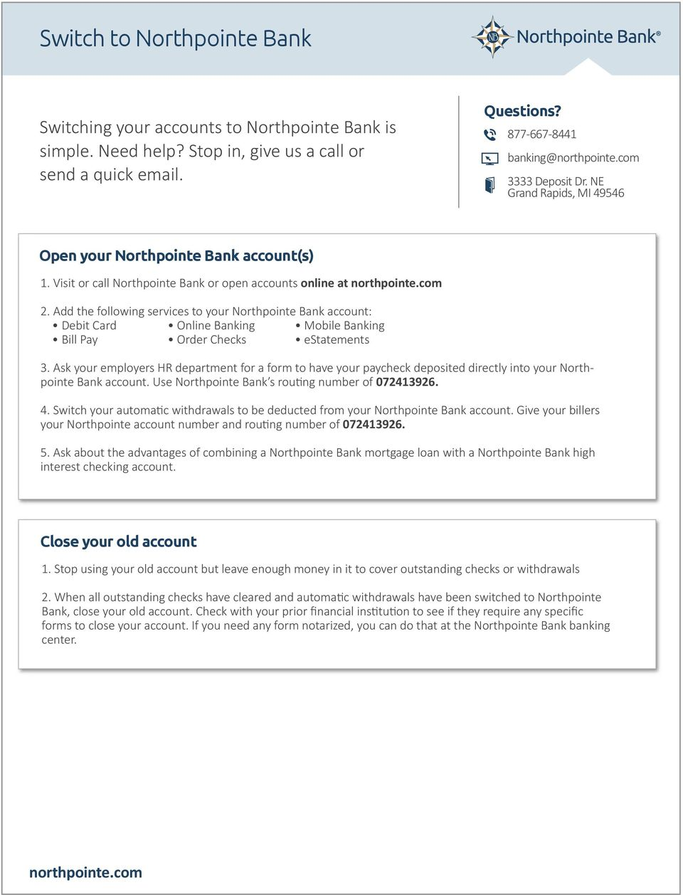 switch to northpointe bank - pdf