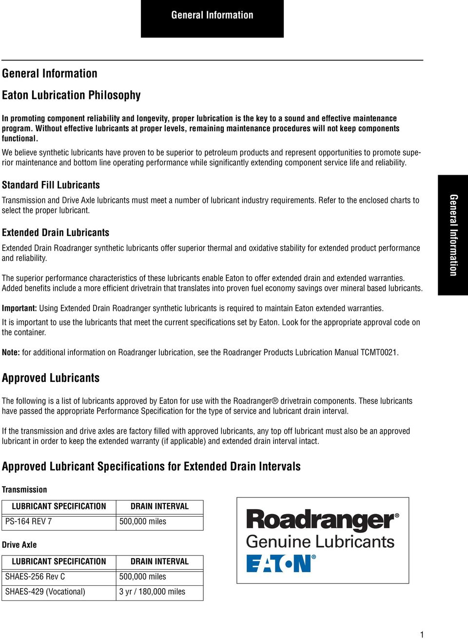 Lubrication Guide  Eaton Approved Lubricant Suppliers