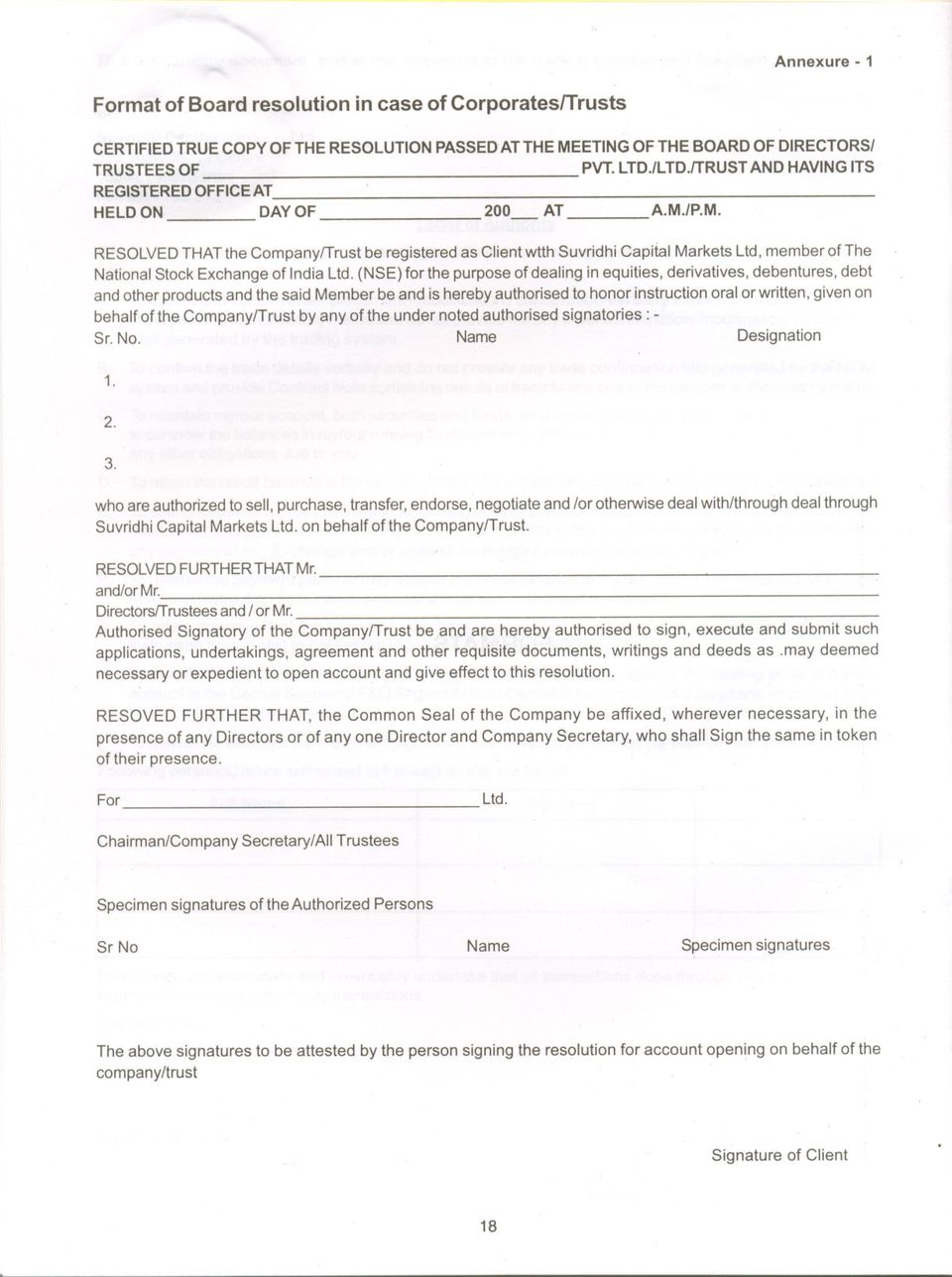 Board Resolution Authorized Signatory Template from docplayer.net