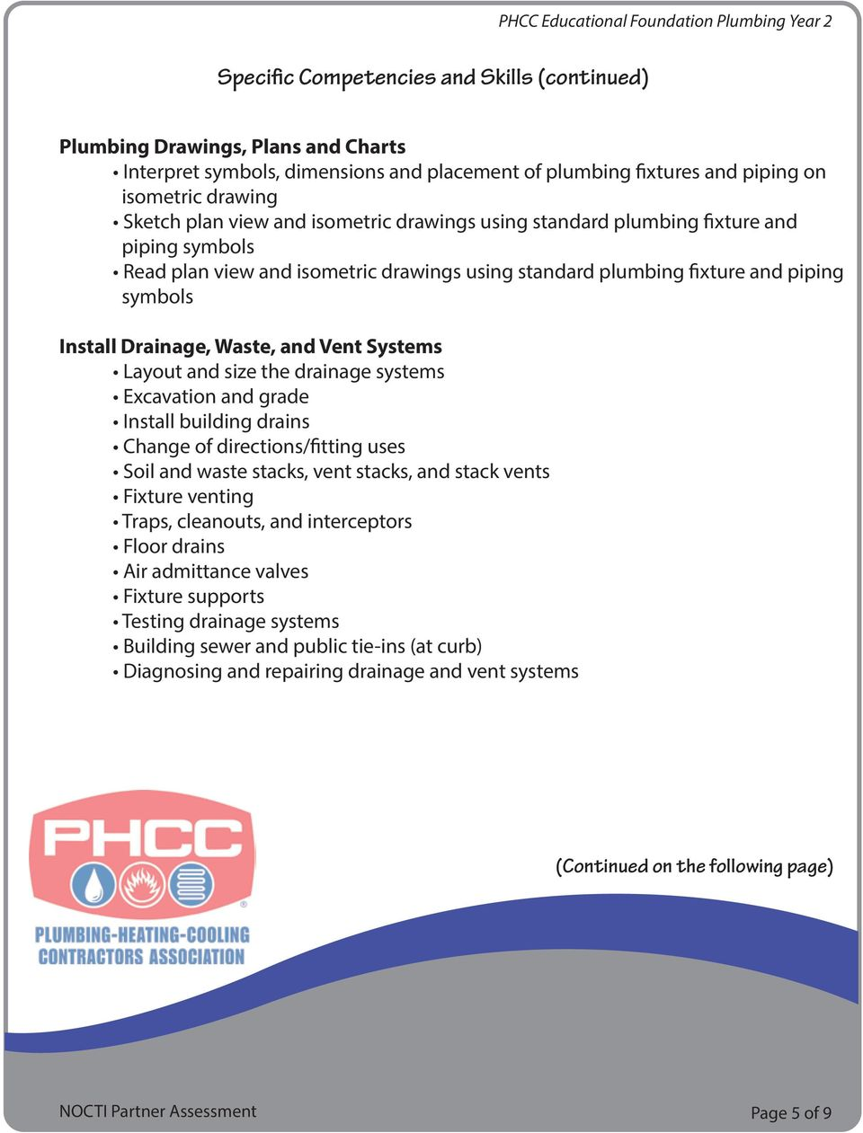 Assessment Blueprint Phcc Educational Foundation Plumbing Year 2 Pdf