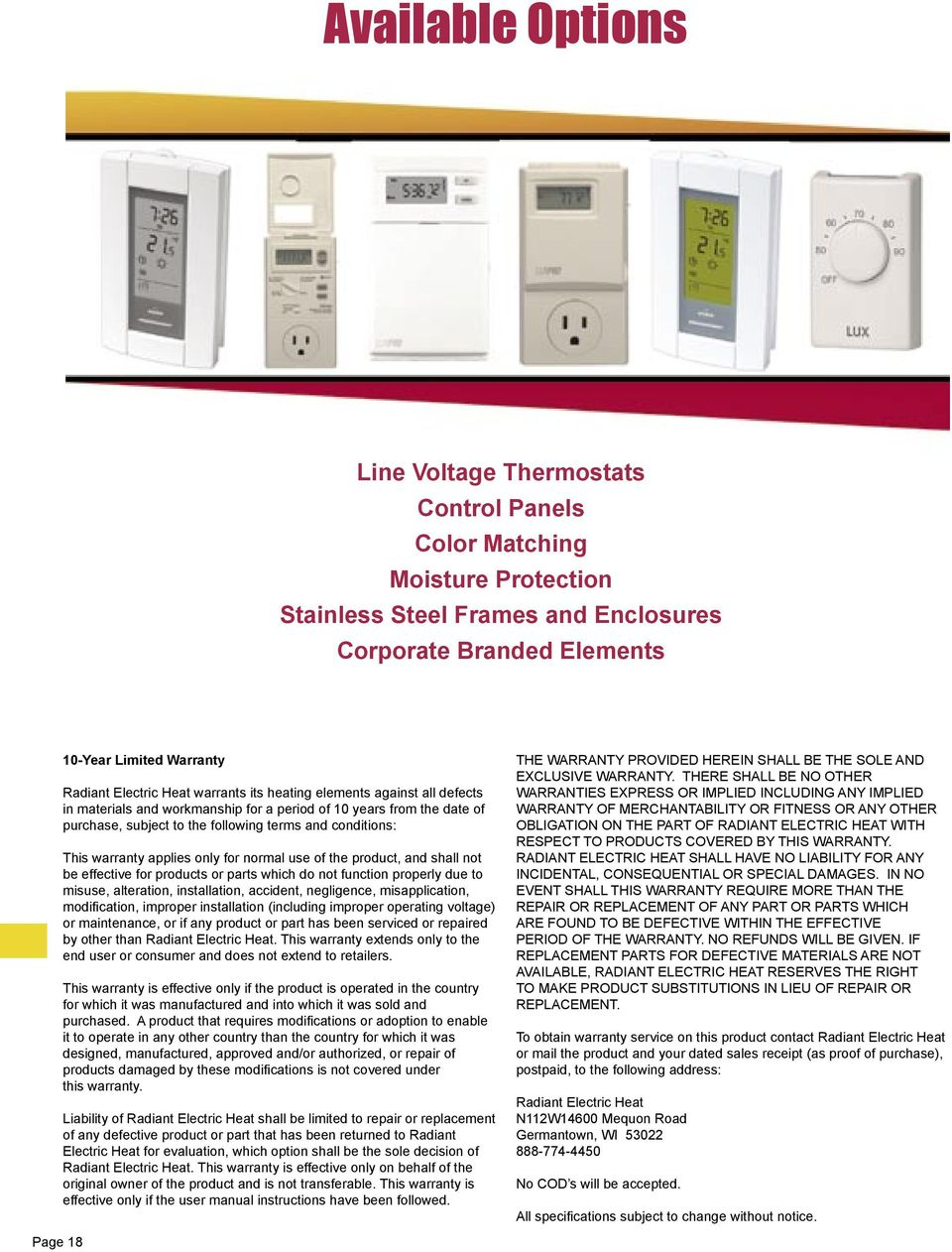 Heater 94605 User Guide On Basic Electrical Wiring Diagrams Instructions Infrared Radiant Heaters And Controls N112 W14600 Mequon Road Fan