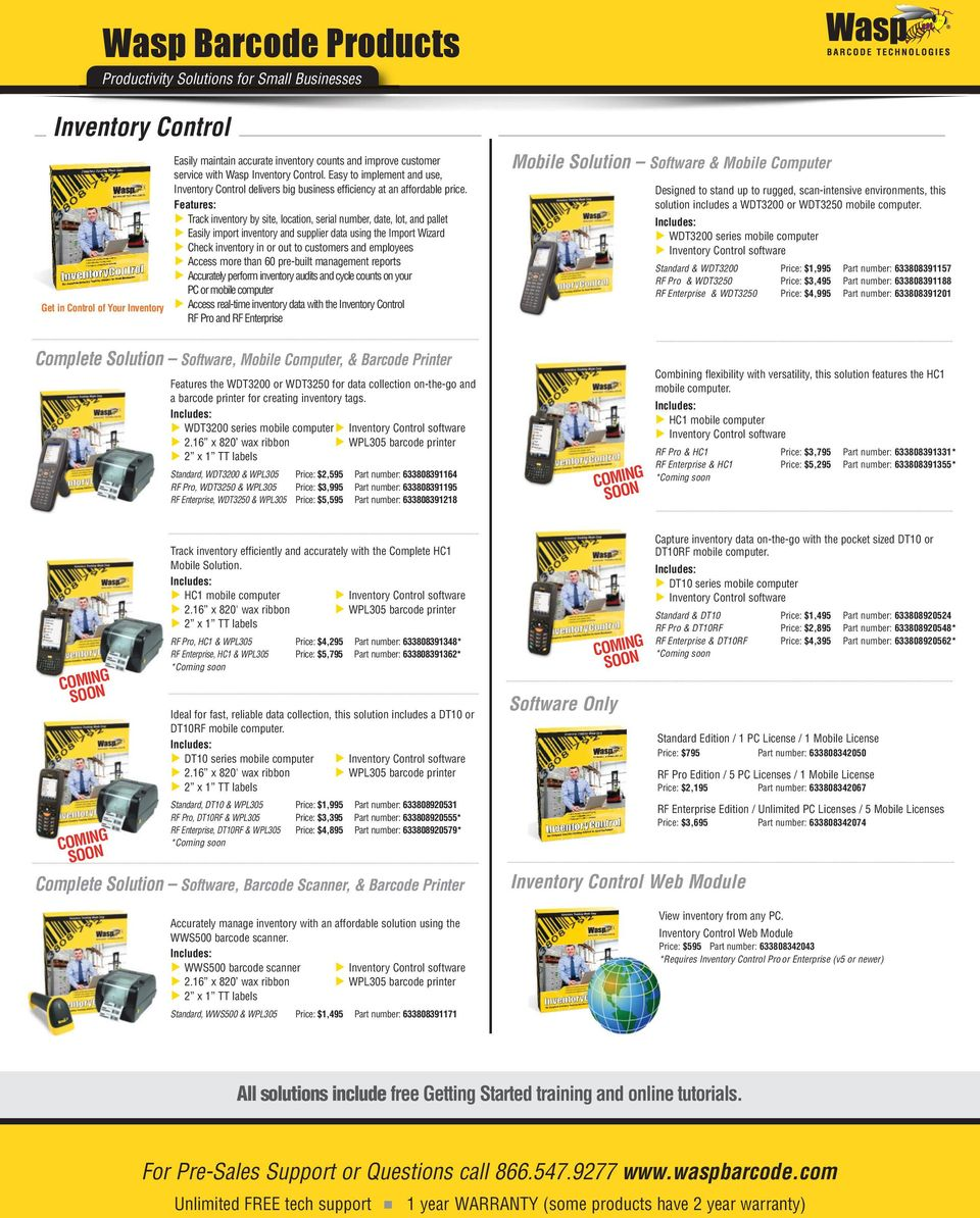 Wasp Barcode Products - PDF