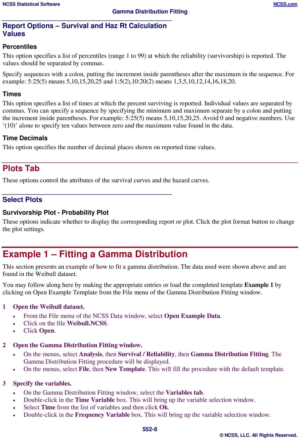 Gamma Distribution Fitting - PDF
