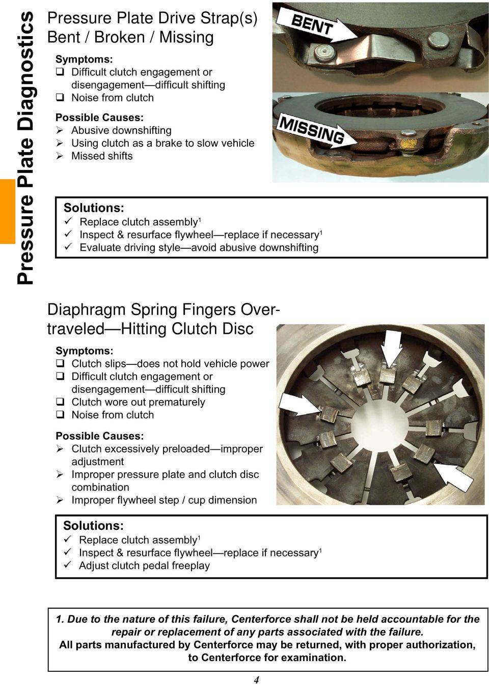 Table of Contents  How to Use this Diagnostics Guide Pressure Plate