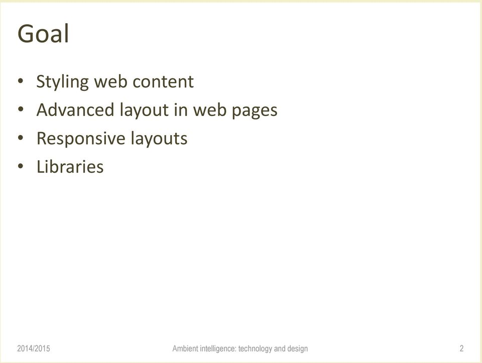 layout in web pages