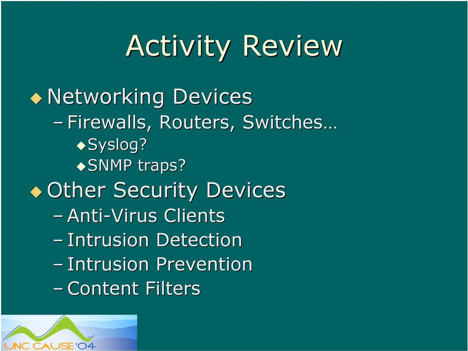 Other Security Devices Anti-Virus Clients