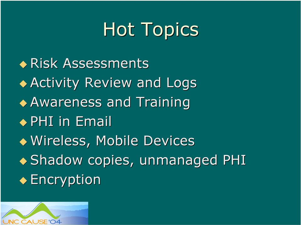 PHI in Email Wireless, Mobile Devices