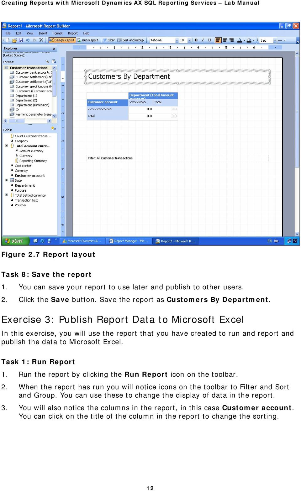 Creating Reports with Microsoft Dynamics AX SQL Reporting Services - PDF
