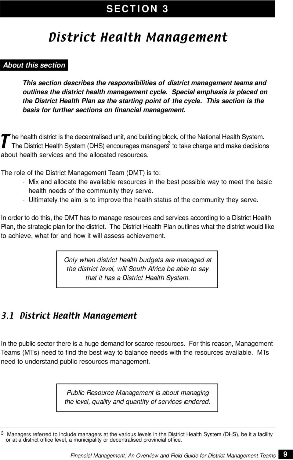 financial management an overview and field guide for district rh docplayer net Financial Management System Business Management
