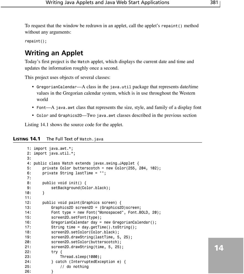 WEEK 2 DAY 14  Writing Java Applets and Java Web Start Applications