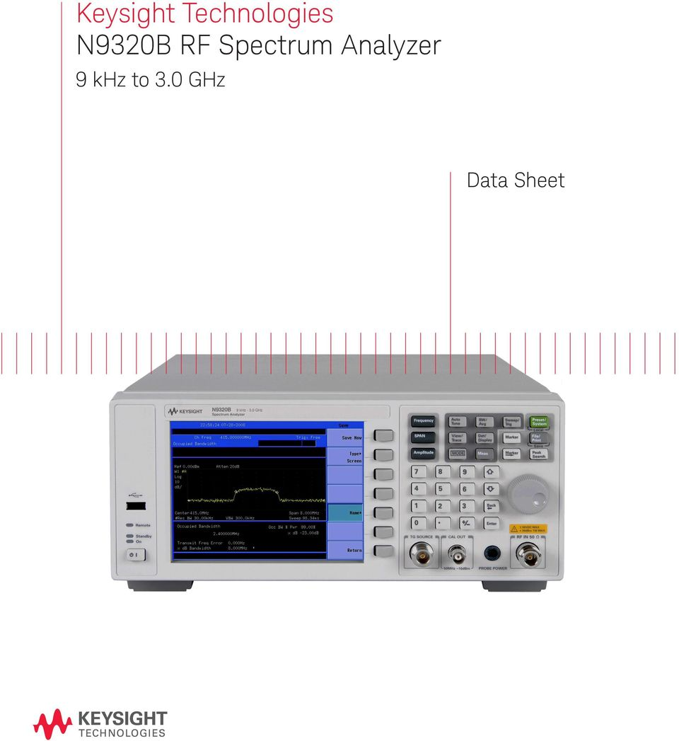 keysight technologies n9320b rf spectrum analyzer - pdf rf spectrum