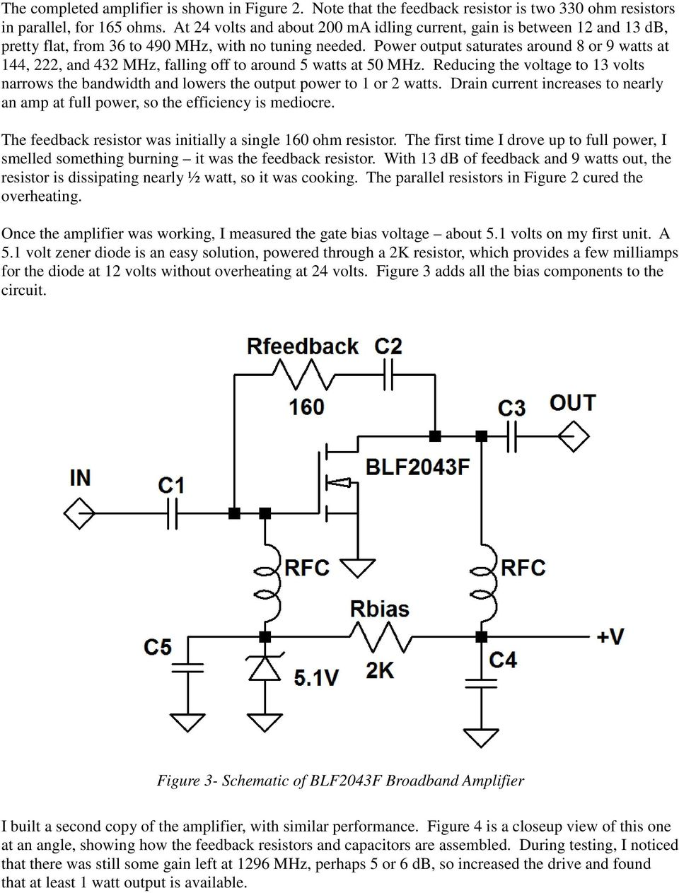 Simple Broadband Solid State Power Amplifiers Pdf 88 108 Mhz 20w Amplifier Circuit Diagram Electronic Circuits Output Saturates Around 8 Or 9 Watts At 144 222 And 432