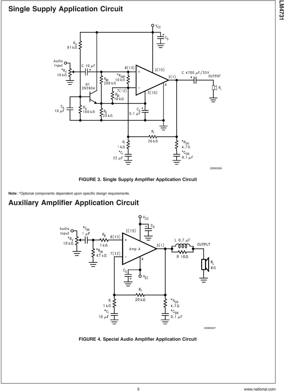 Lm4731 Stereo 25w Audio Power Amplifier With Mute And Standby Modes 20w Hifi Tda2040 Schematic Design Dependent Upon Specific Requirements