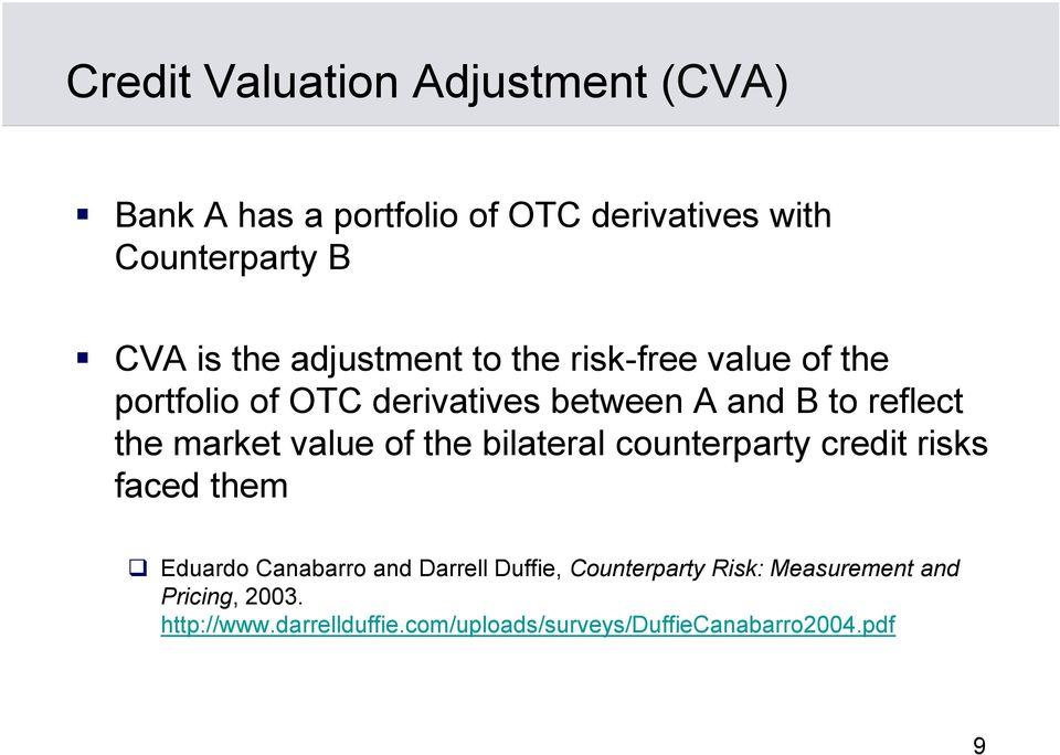 Adjustment counterparty credit value risk pdf and credit