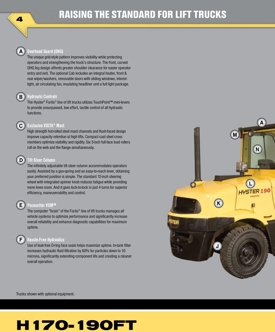 The optional Cab includes an integral heater, front & rear wiper/washers,  removable