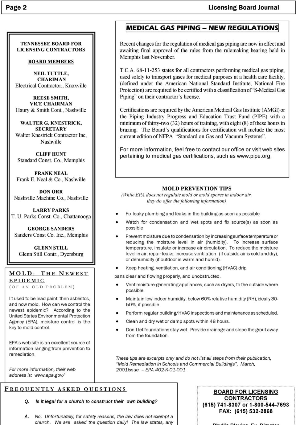 Tennessee Contractors Pdf