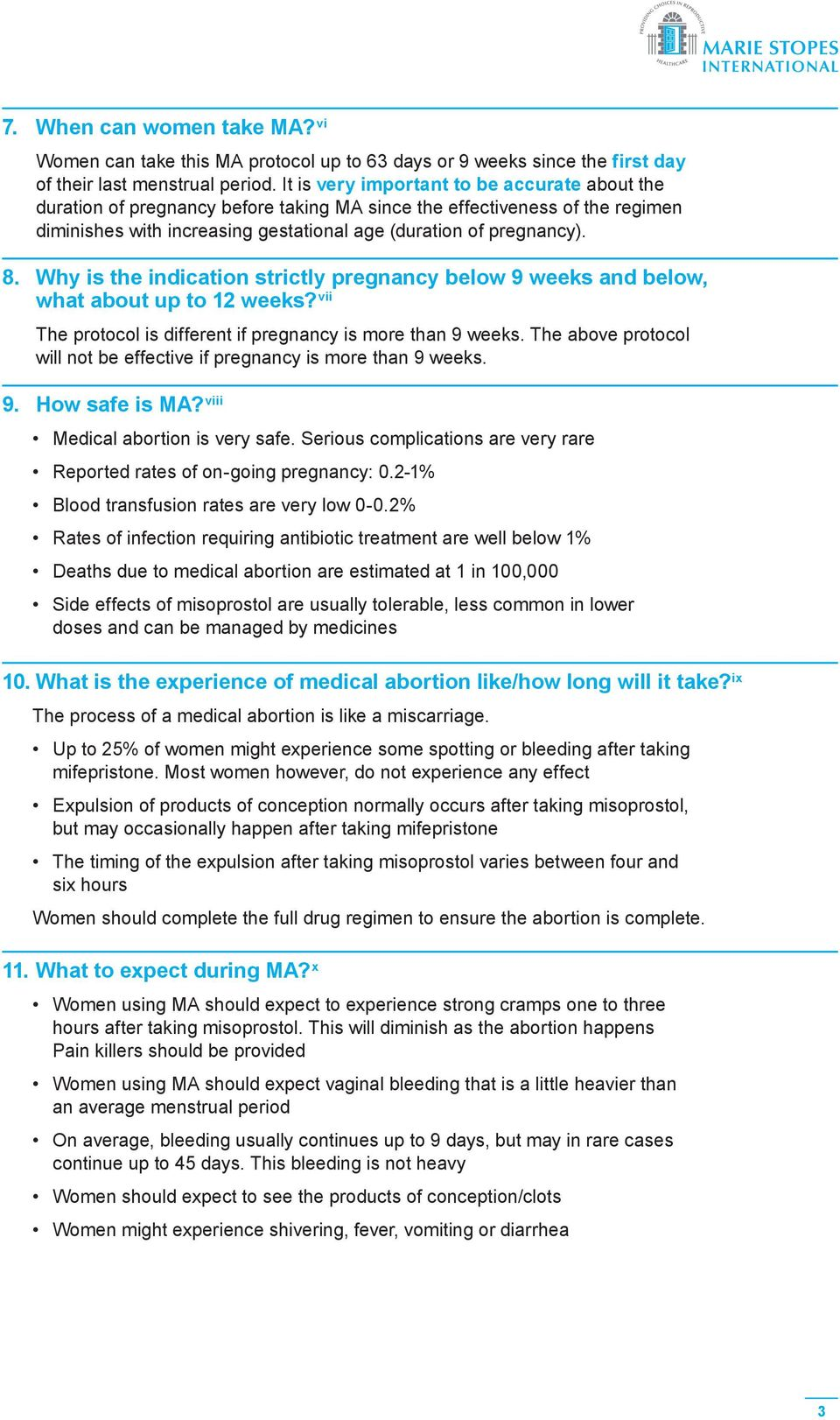Frequently Asked Questions (FAQ) for Medical Abortion - PDF