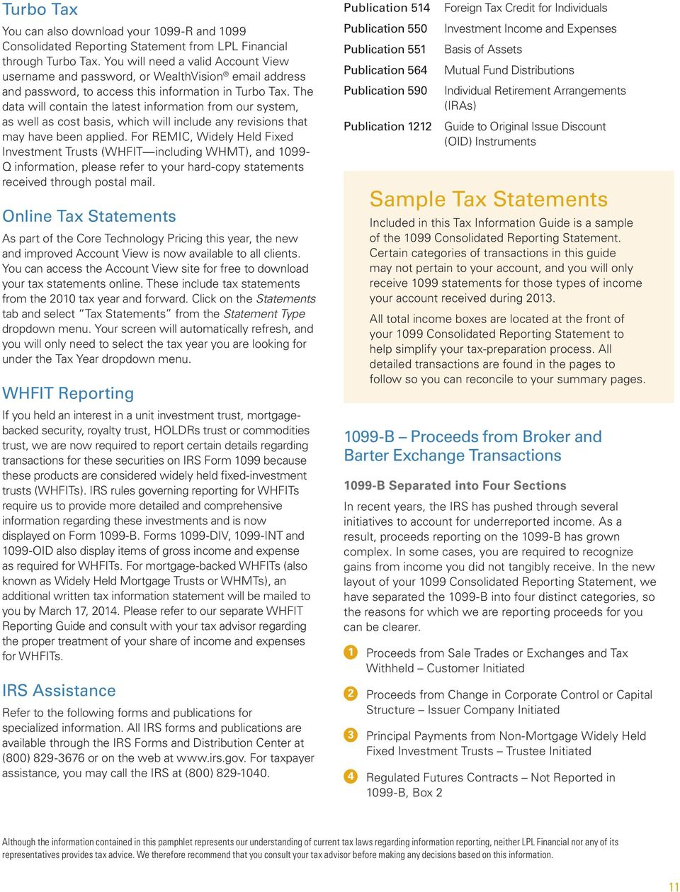 Consolidated Reporting Statement Tax Guide - PDF