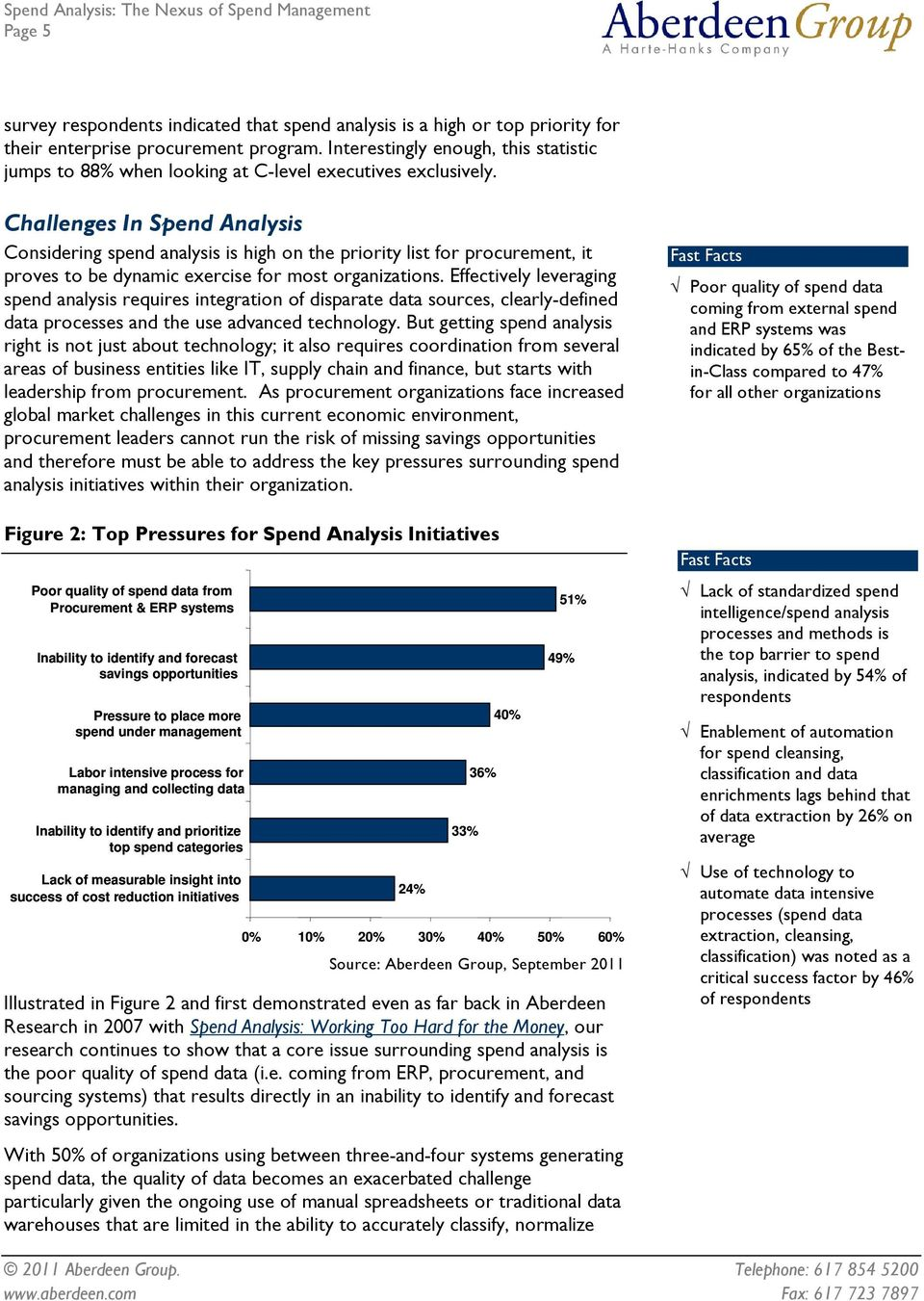 Challenges In Spend Analysis Considering spend analysis is high on the priority list for procurement, it proves to be dynamic exercise for most organizations.