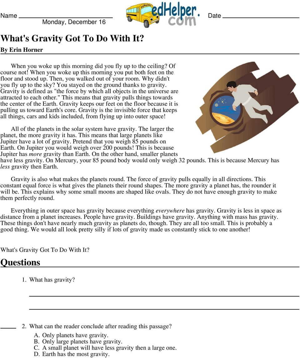 Whats Gravity Got To Do With It Pdf