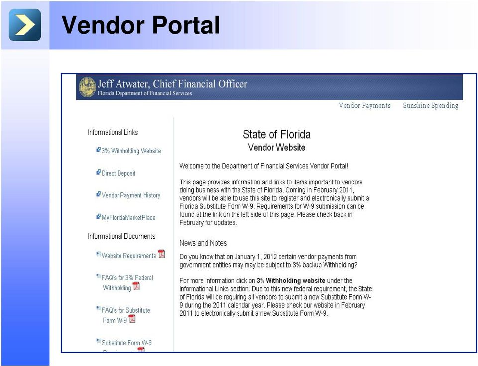 FLAIR Statewide Vendor File Changes  Department of Financial