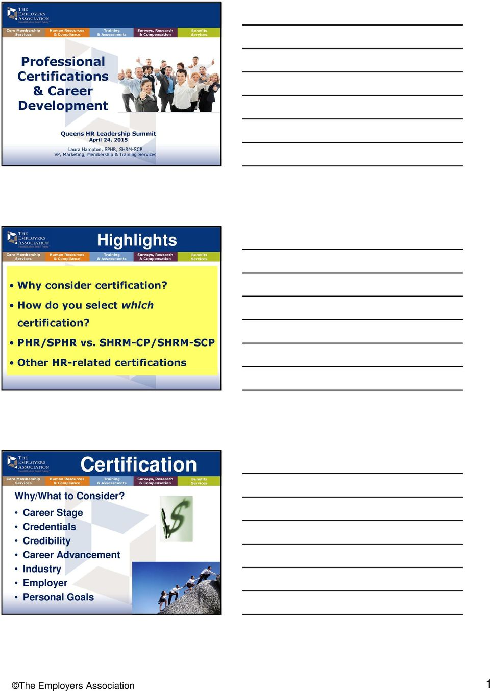 Certification Highlights Professional Certifications Career