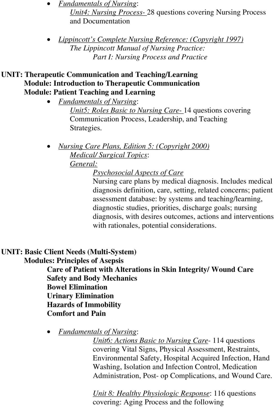 NURSING COMPUTER SOFTWARE  Level 1- Semester 1  Fundamentals