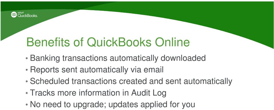 Welcome to QuickBooks Online Certification Training - PDF