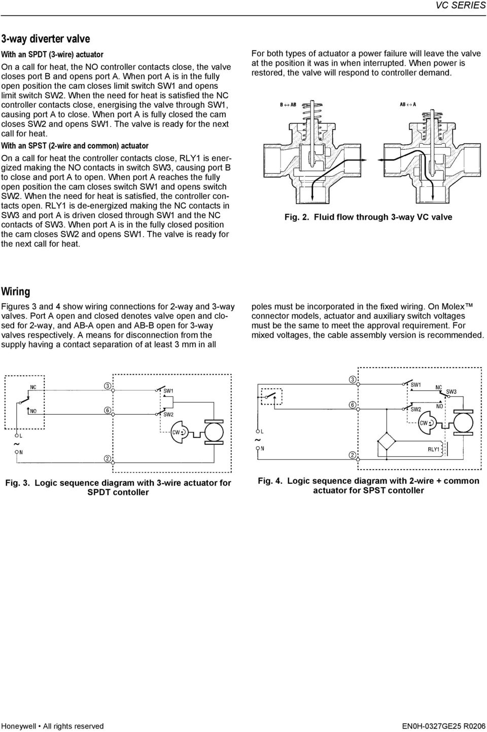 3 Way Diverter Switch Wiring Diagram Variations Schematics 4 Vc Series Zone Valves Balanced 2 And Hydronic Pdf