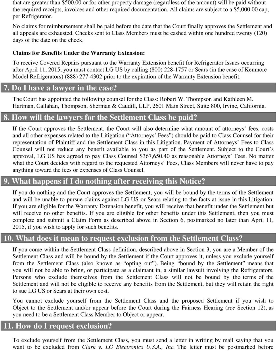 Notice of Pendency and Proposed Settlement of Class Action - PDF