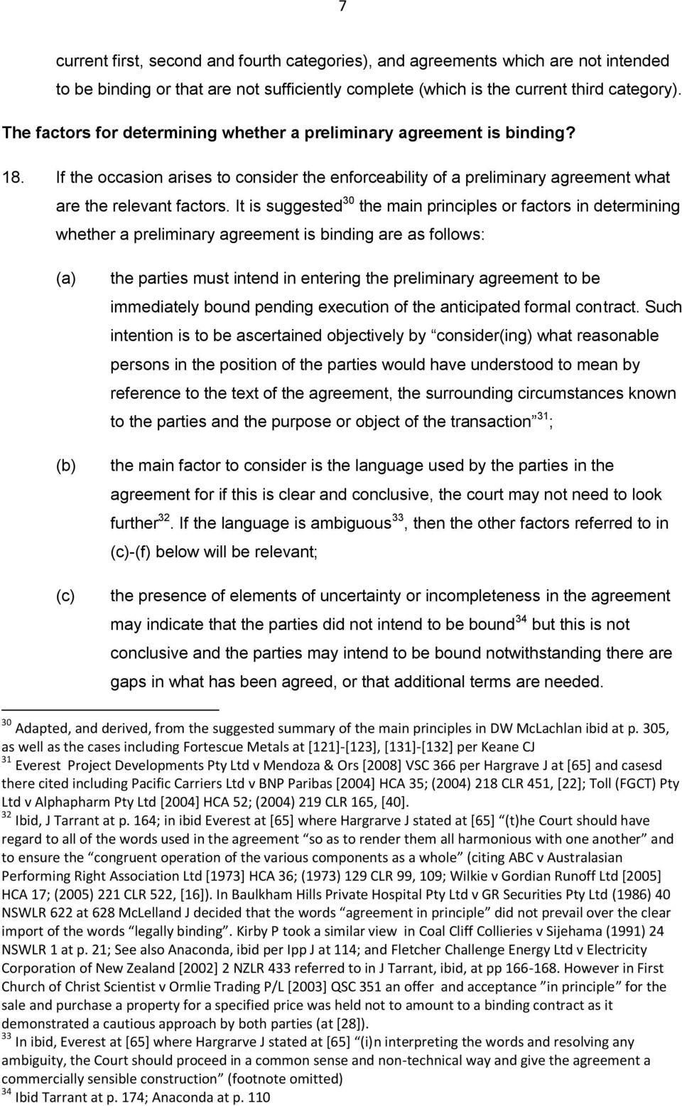 Contract Law Avoiding Legal Risk With Mous Heads Of Agreement Pdf